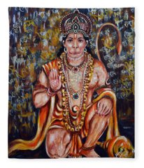 Hanuman Fleece Blanket