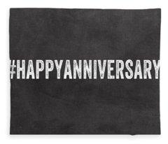 Happy Anniversary- Greeting Card Fleece Blanket