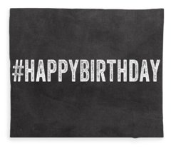 Happy Birthday Card- Greeting Card Fleece Blanket