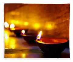 Happy Diwali Fleece Blanket