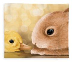 Happy Easter 2014 Fleece Blanket