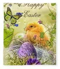 Happy Easter Fleece Blanket