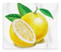 Happy Grapefruit- Irina Sztukowski Fleece Blanket