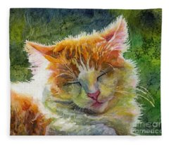 Happy Sunbathing 2 Fleece Blanket