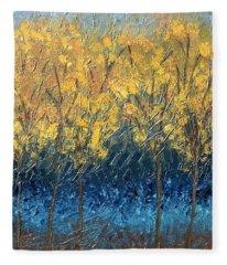 Happy Trees Fleece Blanket