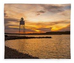 Harbor Sunrise Fleece Blanket