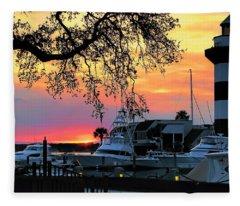 Harbour Town Sundown Fleece Blanket