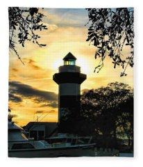 Harbour Town Lighthouse Beacon Fleece Blanket