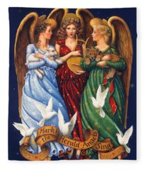Hark The Herald Angels Sing Fleece Blanket