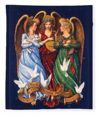 Hark The Herald Angels Sing Fleece Blanket