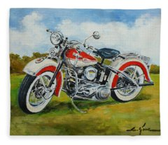Harley Davidson 1943 Fleece Blanket
