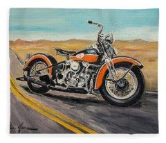 Harley Davidson 1946 Fleece Blanket