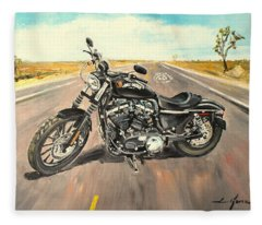 Harley Davidson 883 Sportster Fleece Blanket