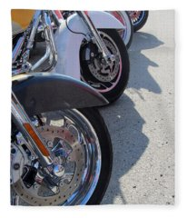 Harley Line Up 1 Fleece Blanket