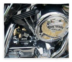 Harley Live To Ride Fleece Blanket