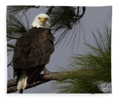 Harriet The Bald Eagle Fleece Blanket