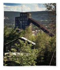Harry E Colliery Swoyersville Pa Summer 1994 Fleece Blanket