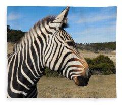 Hartmann's Mountain Zebra - Profile Fleece Blanket
