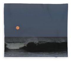 Harvest Moon Seaside Park Nj Fleece Blanket