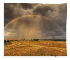 Harvest Rainbow Fleece Blanket