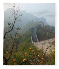 Harvest Time At The Great Wall Of China Fleece Blanket