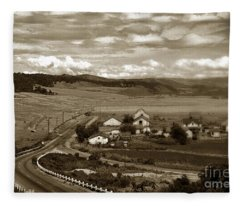 Hatton Ranch Carmel Valley From Highway One California  1940 Fleece Blanket