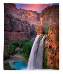 Havasu Falls Fleece Blanket