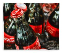 Have A Coke And Give A Smile By Diana Sainz Fleece Blanket