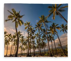 Hawaii Towering Palms Fleece Blanket
