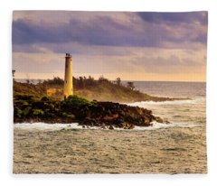 Hawaiian Lighthouse Fleece Blanket