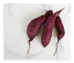 Hawaiian Purple Sweet Potatos Fleece Blanket