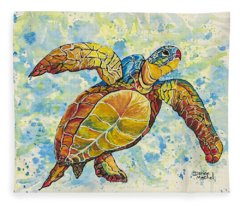 Hawaiian Sea Turtle 2 Fleece Blanket