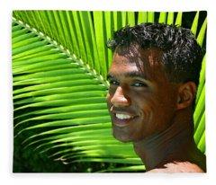 Hawaiian Smile Fleece Blanket