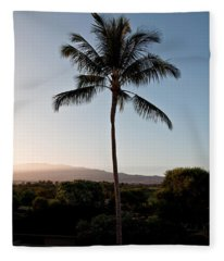 Hawaiian Sunrise With Vog Art Prints Fleece Blanket