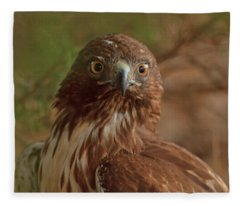 Hawk Close Encounter Fleece Blanket