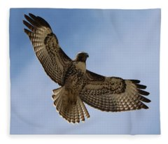 Hawk In Flight  Fleece Blanket