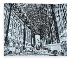 Hays Galleria London Sketch Fleece Blanket