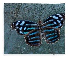 Hdr Butterfly Fleece Blanket