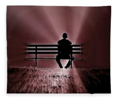 He Spoke Light Into The Darkness Fleece Blanket