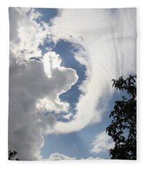 Head In The Clouds Fleece Blanket