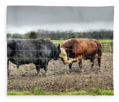 Head To Head Fleece Blanket