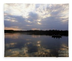 Heading Home On Lake Roosevelt In Outing Minnesota Fleece Blanket
