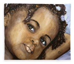 Nigerian Eyes Fleece Blanket