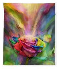 Healing Rose Fleece Blanket
