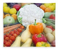 Healthy Vegetables Food Art Prints Fleece Blanket