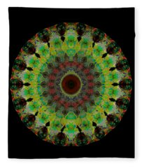 Heart Aura - Mandala Art By Sharon Cummings Fleece Blanket