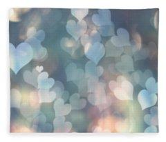 Heart Background Fleece Blanket