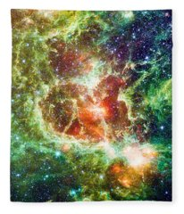 Heart Nebula Digital Drawing Fleece Blanket