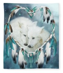 Heart Of A Wolf Fleece Blanket