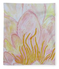 Heart Of Aqualily Fleece Blanket